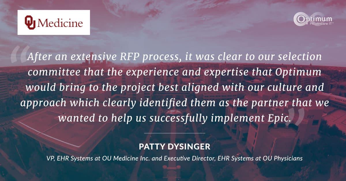 Patty Dysinger Quote - OU Medicine