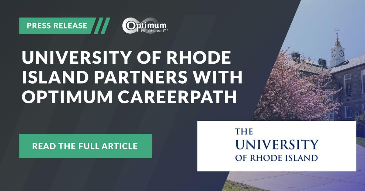 Press Release: University of Rhode Island (URI) Partners with Optimum CareerPath